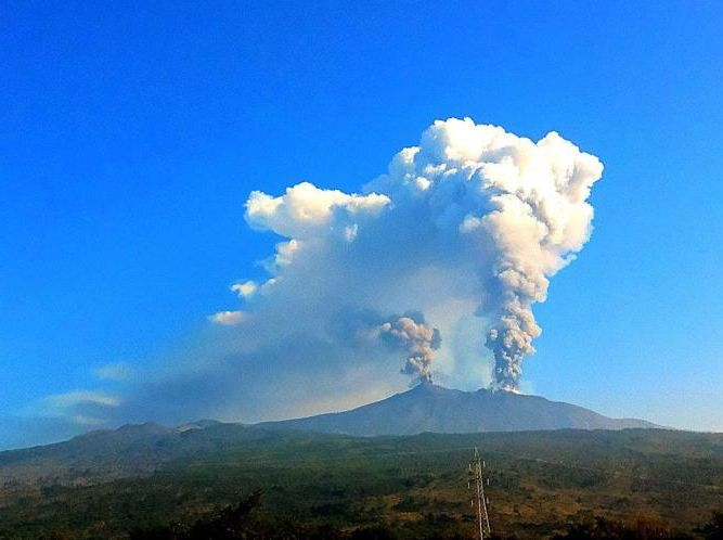 ETNA : THE  HIGHEST ACTIVE  VOLCANO IN EUROPE